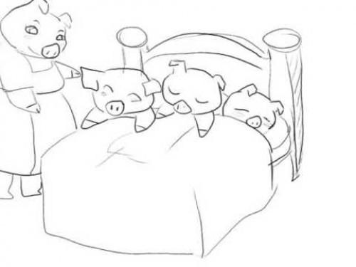Los cochinitos dormilones