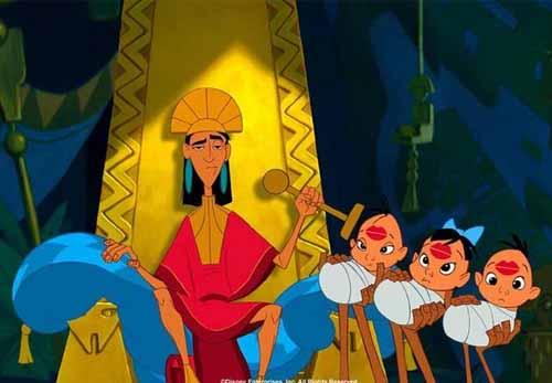 El emperador Kuzco y sus locuras