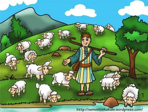 El pastor y la oveja obediente