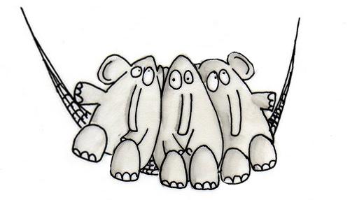 Un elefante se balaceaba